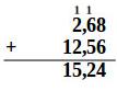 Test de numératie l'addition de nombres décimaux