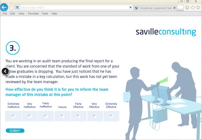 Exemple de Test de Jugement Situationnel Textuel de Saville