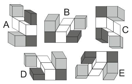 Exemple de test de raisonnement spatial 3D exemple
