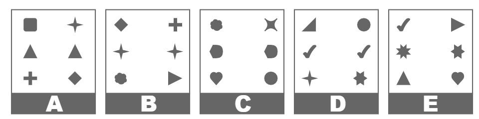Exemple trouver l'intrus du type raisonnement spatial du test CCAT