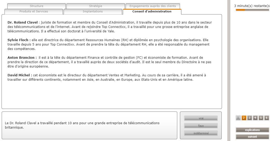 Test d'aptitude cut-e Crédit Agricole : test de raisonnement verbal (scales verbal)